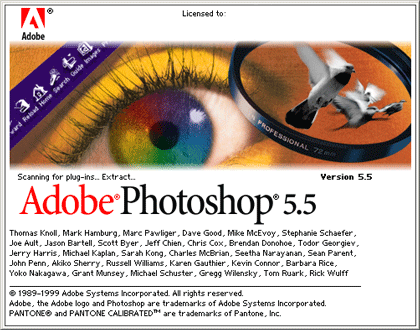 Adobe Photoshop version 5.5